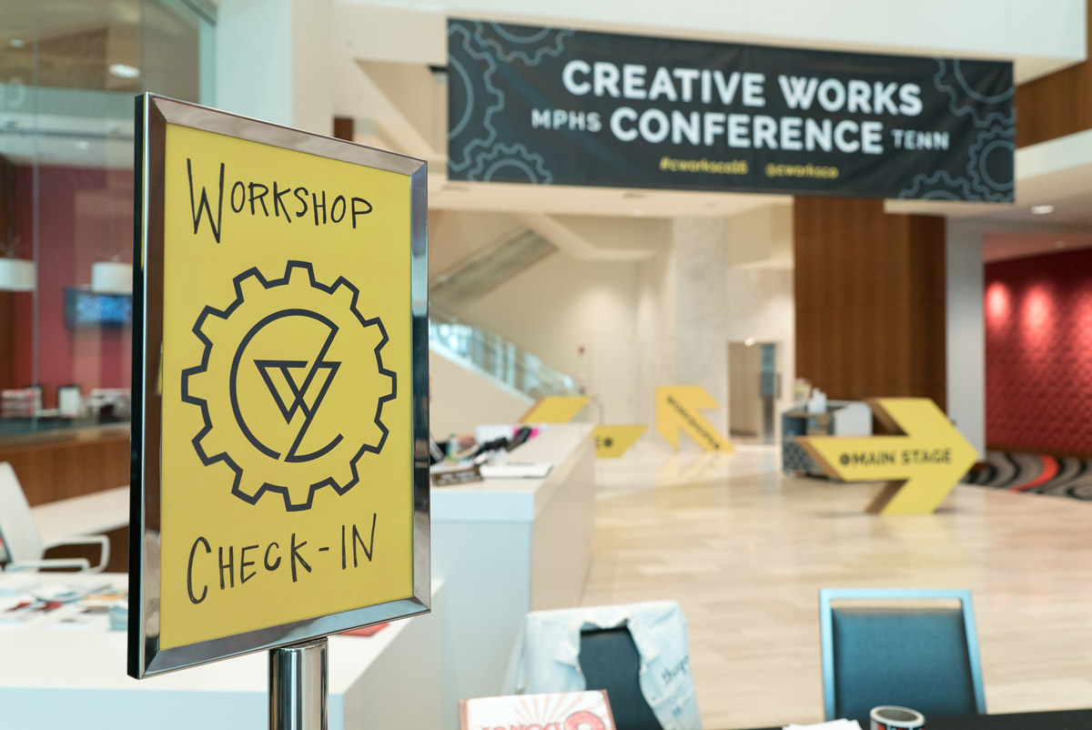Creative Works Conference workshop check in