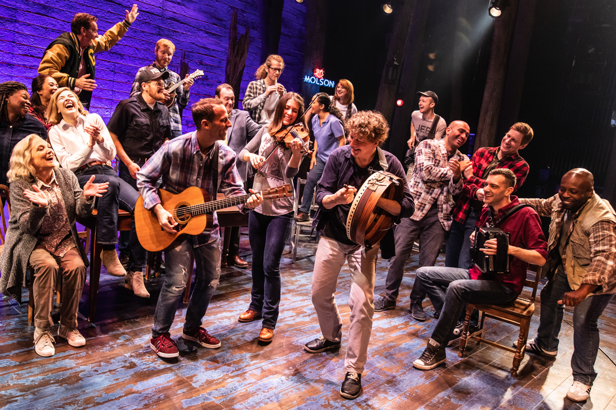 Come From Away cast playing music