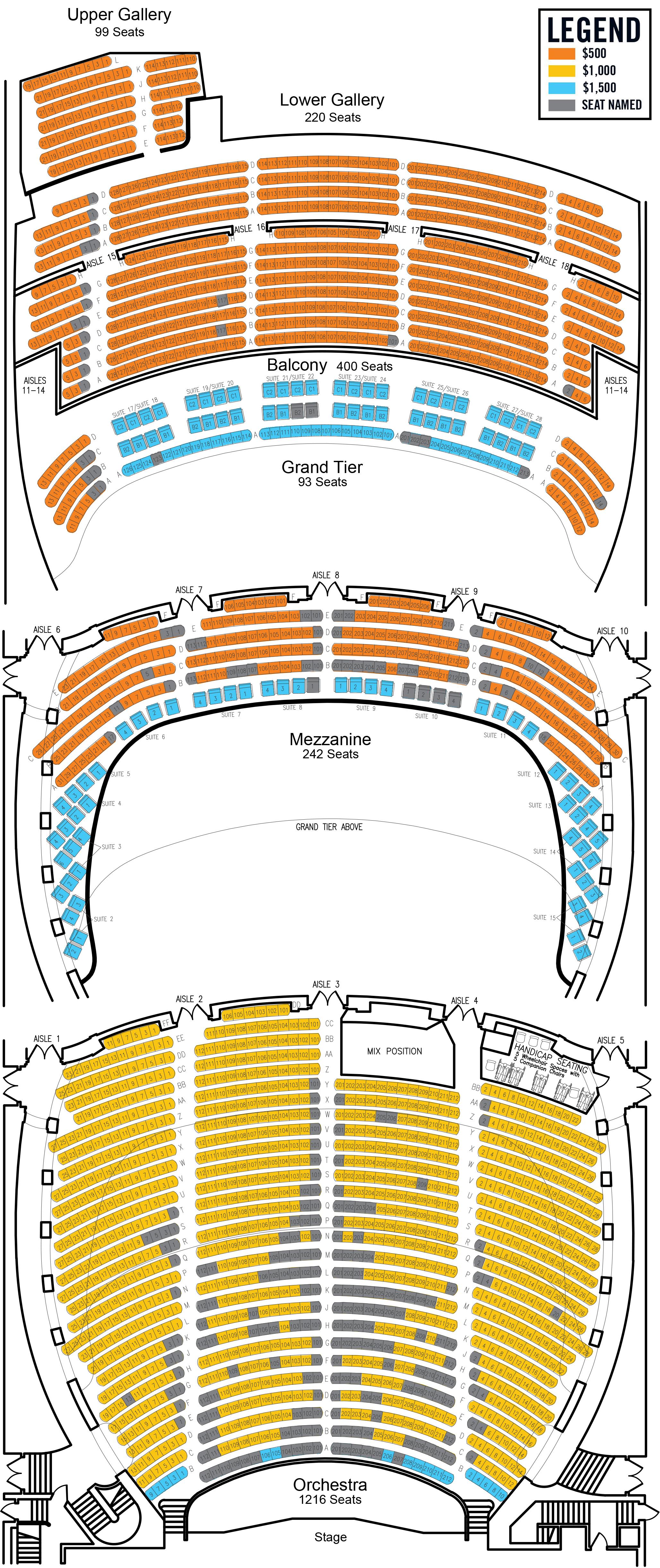 Name A Seat Orpheum Theatre Memphis